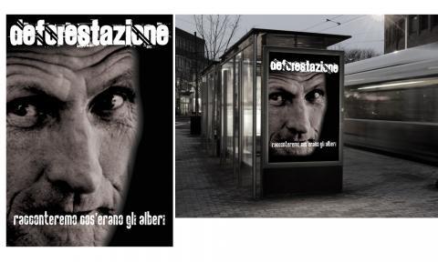 """Progetto campagna """"Deforestazione"""", manifesto"""