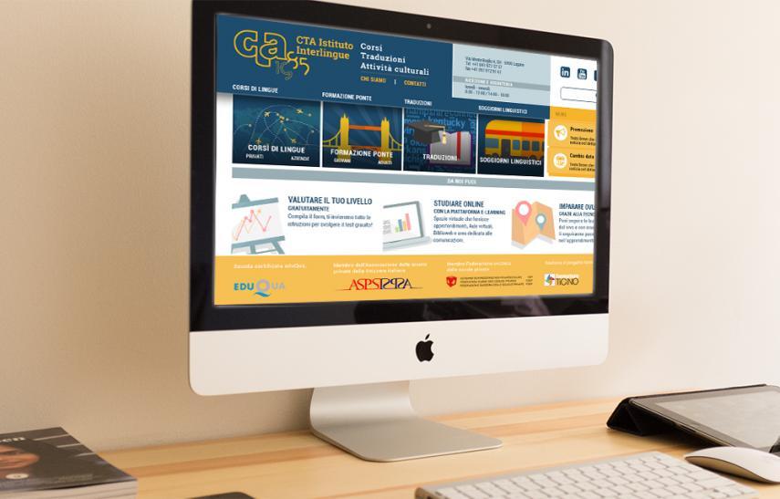 Cta - interlingue, sito internet versione desktop